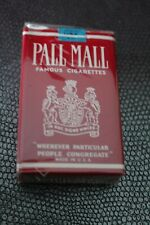 Ancien paquet de cigarettes tabac Pall Mall pour collection