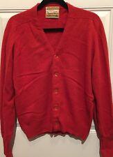 Vtg Jantzen Country Squire Australian Lambs Wool Cardigan Sweater sz Musa made