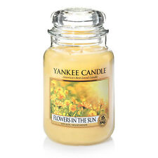 ☆☆FLOWERS IN THE SUN☆☆ LARGE YANKEE CANDLE JAR ☆☆LOVELY FLORAL SCENTED CANDLE