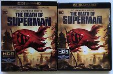 DC COMICS THE DEATH OF SUPERMAN 4K ULTRA HD BLU RAY 2 DISC SET+ SLIPCOVER SLEEVE
