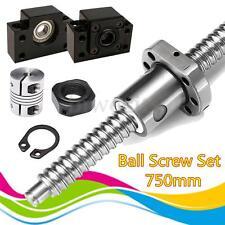 Ball Screw SFU1605 L750mm-C7 Ballscrew +BK/BF12 +2pcs 6.35*10mm couplers for CNC