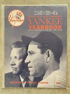 Vintage Official New York Yankees 1964 Sketch Book Yearbook. Wow!!! Yogi Berra