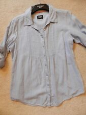MAINE NEW ENGLAND, Size 16 blouse, Light blue, Linen and cotton blend