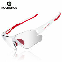 RockBros Cycling Driving Photochromatic Sunglasses Glasses UV400 Goggles White