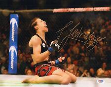 JOANNA JEDRZEJCZYK SIGNED AUTO'D 11X14 PHOTO PSA/DNA COA Z78370 MMA UFC CHAMPION