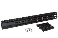 .223 15 Inch Super Slim Keymod Free Float HandGuard w/ Steel Nut 7KM