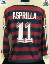 Newcastle United, Colombia ASPRILLA 1995/96 Away Football Shirt XL Soccer Jersey