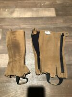 Used Shires Youth Medium Half Chaps Brown