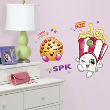 SHOPKINS GiaNT WALL DECALS POPPY CORN & KOOKY COOKIE Stickers Kids Room Decor