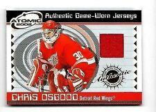 CHRIS OSGOOD 2002 PACIFIC ATOMIC GAME USED JERSEY ~ REDWINGS