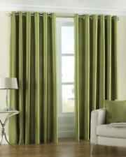 "NEW Riva Home Fiji Faux Silk Eyelet Curtains 46"" x 72"" 117cm x 183cm - Green"