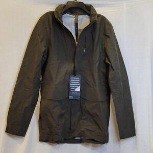 Lululemon Mens Storm Field Windbreaker Jacket Dark Olive Waterproof Hooded M New