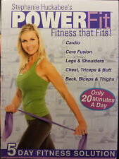 New! Stephanie Huckabee's Power Fit 5 Day Fitness Solution (5 Dvd Set)