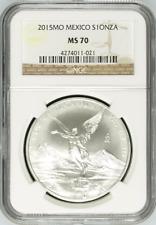 Mexico 2015 Mo Silver NGC MS70 1 Onza Libertad Mexican Bullion Coin Mexico
