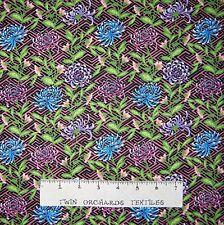 Floral Fabric - Mei Fong Flowers on Pink Geometric - Lyndhurst OOP YARD
