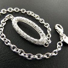 Bracelet Bangle 925 Sterling Silver S/F Cuff Diamond Simulated Design Fs3A804