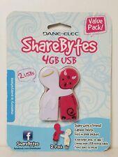 Dane-Elec 4GB USB Sharebytes Flash Drives 2 Pack, Devil and Angel
