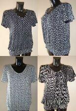 Short Sleeve Floral Stretch Tops & Shirts for Women