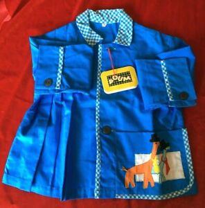 Vêtement enfant vintage année 60 Poum tablier broder