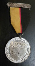 Norfolk Education Committee White Metal School Attendance Medallion 1906