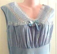 Vintage Phil Maid Blue Nightgown Acetate Runproof Tricot 36/38 New Old Stock