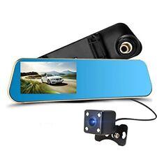 """Los espejos retrovisores Dashcam con cámara de visión trasera display 4,3"""" dual cámara DVR Full HD"""