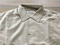 515$ Loro Piana Light Gray Andre Shirt Flannel Cotton Size Large Made in Italy