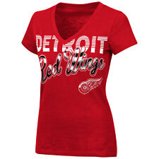 G-III 4her Detroit Red Wings Women's First Down V-Neck T-Shirt - Red