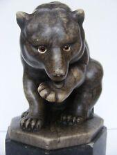 ART Deco pietra porcelain Stone personaggio Gerhard Schliepstein Orso Bear Bruno ca 1930