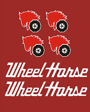Wheel Horse Garden Tractor vinyl decals  6 piece set