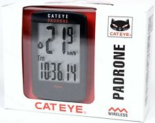 Cateye Padrone Stealth Wireless Bike Computer Road//MTB Large Display CC-PA100W
