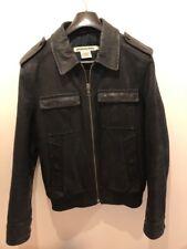 j lindeberg Denim Leather Jacket. Mens Large