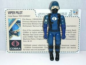 Vintage GI Joe 1983 Cobra Viper Pilot  Action Figure  ARAH