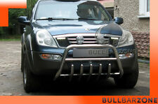 SSANGYONG REXTON 01-05 TUBO PROTEZIONE MEDIUM BULL BAR INOX STAINLESS STEEL