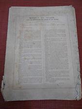 rare document sur l'éclairage des villes par les lampes a pétrole 1883 ( ref ca1