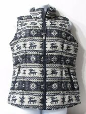 FDJ French Dressing  Fair Isle Full Zip HOLIDAY Quilted Vest Womens size M