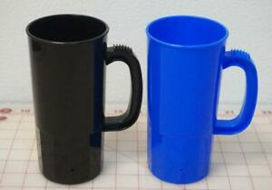 22 Oz Plastic Mugs W/ Handles Made In USA You Choose Color