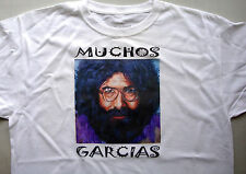 T-shirt white 100% cotton size large Jerry Garcia Grateful dead muchos garcias