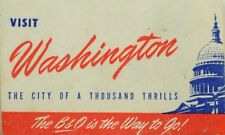 Washington B & O Is The Way To Go Vintage Poster Stamp Fabulous! F94