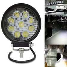 "1X 27W 4"" Round Flood LED Work Light Offroad Fog Driving SUV ATV Truck 4WD Best"