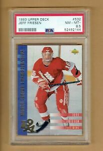 1993-94  Upper Deck  Jeff  Friesen  Rookie  #532   PSA 8.5