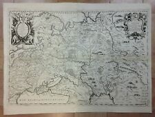 MOSCOVIA 1690 VINCENZO CORONELLI VERY LARGE UNUSUAL ANTIQUE MAP 17TH CENTURY