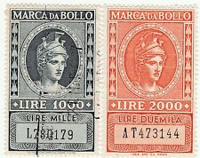 LOTTO MARCHE DA BOLLO A TASSA FISSA - LIRE 1000 e 2000 -  (5)