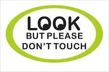 look But Please Dont Touch Sticker Decal Vinyl Car Window Bumper Box Decor