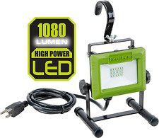 1080 Lumen LED Weatherproof Tilt-able Portable Work Light w/ Adjust. Metal Hook