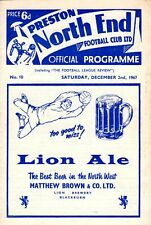 Preston North End v Bristol City programme, 2nd Division, December 1967