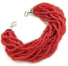 new Beautiful Tibet silver red coral bracelet