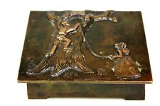 VINTAGE ART DECO DANISH BRONZE FAIRY TALE BOX C.1920-30