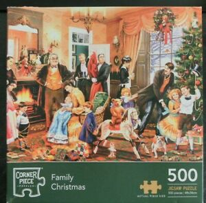 Corner Pieces Jigsaw Puzzle Family Christmas 500 pieces complete