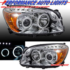 06-08 TOYOTA RAV4 DUAL CCFL HALO PROJECTOR HEADLIGHTS CHROME w/ LED PARKING PAIR